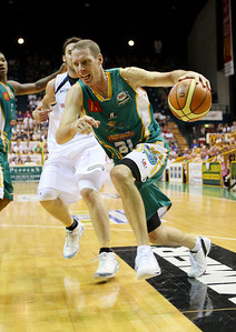 09 Feb 2008 Townsville, Qld, Australia - Crocs captain John Rillie drives to the basket - Townsville Crocodiles v Brisbane Bullets (Townsville Entertainment & Convention Centre) - PHOTO: CAMERON LAIRD (Ph: 0418238811)