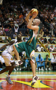 09 Feb 2008 Townsville, Qld, Australia - Townsville's Brad Sheridan flies to the basket - Townsville Crocodiles v Brisbane Bullets (Townsville Entertainment & Convention Centre) - PHOTO: CAMERON LAIRD (Ph: 0418238811)
