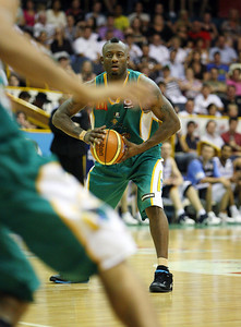 12 Jan 2008 Townsville, Qld, Australia - Townsville's Corey Williams passes - Townsville Crocodiles v New Zealand Breakers (Townsville Entertainment & Convention Centre) - PHOTO: CAMERON LAIRD (Ph: 0418238811)