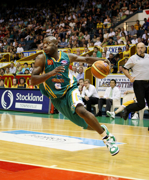 08 Dec 2007 Townsville, Qld - Corey Williams streaks to the basket - Townsville Crocodiles v Singapore Slingers (Townsville Entertainment & Convention Centre) - PHOTO: CAMERON LAIRD (Ph: 0418 238811)