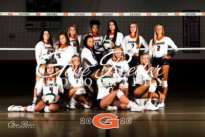 GW Varsity Volleyball 2020 team 1