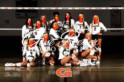 GW Varsity Volleyball 2020 team mask
