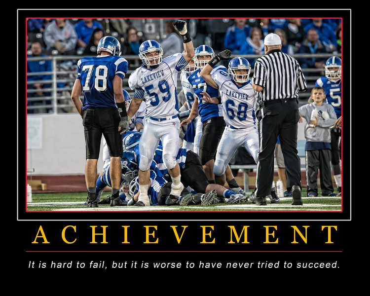 Achievement Motivational Poster 16 x 20