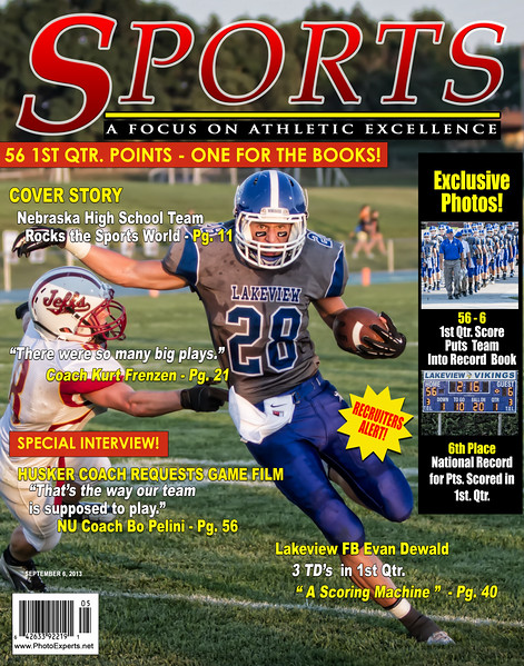 Evan Dewald National Record Mag Cover