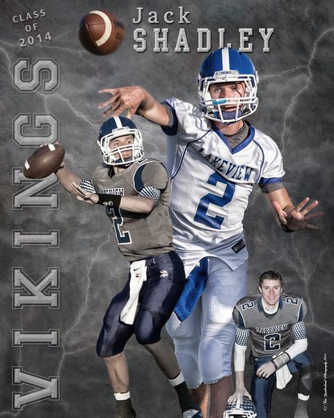 Jack Shadley Poster, Grad Gift 2014 16 x 20