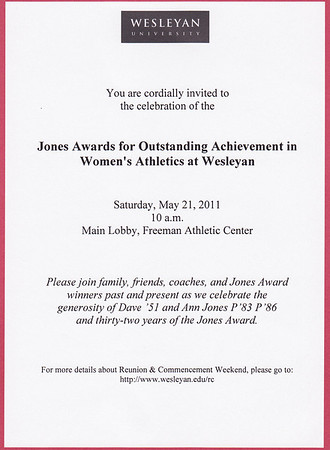 Announcement for the 2011 Jones Awards.