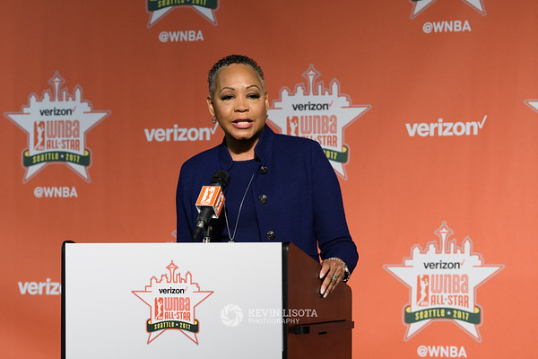 WNBA President Lisa Borders at WNBA All-Star Game 2017