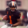 Oregon State Beavers running back Jacquizz Rodgers (1) runs the ball at the 114th annual Civil War. UO Defeated OSU 37-20 in the game at Reser Stadium in Corvallis Oregon.