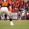 Oregon Ducks kicker Rob Beard (93) kicks off at the 114th annual Civil War. UO Defeated OSU 37-20 in the game at Reser Stadium in Corvallis Oregon.