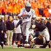 Oregon Ducks running back Kenjon Barner (24) runs the ball past the Oregon State Defense at the 114th annual Civil War. UO Defeated OSU 37-20 in the game at Reser Stadium in Corvallis Oregon.