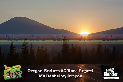 Mt Bachelor sunset the night before the Oregon Enduro.  Smike from nearby forest fires fill the air.
