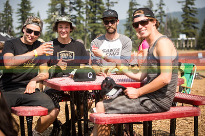 A crew of German and Swiss riders made their way to Bend after Crankworx, Whistler