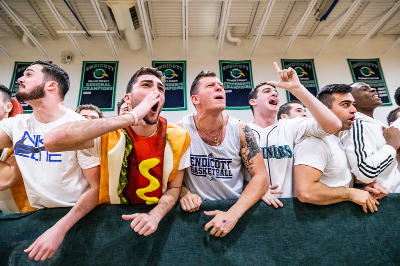 Endicott College Men's Basketball takes on the Nichols College Bison at McDonald Gymnasium for the Commonwealth Coast Conference (CCC) Championship on February 29th, 2020