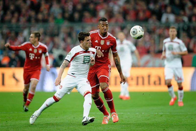 FC Bayern - FC Kaiserslautern Pokalhalbfinale 14, Simon Zoller vs Jerome Boateng