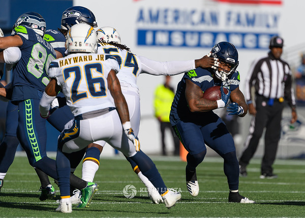 Mike Davis - Seattle Sehawks vs. Los Angeles Chargers - November 4, 2018