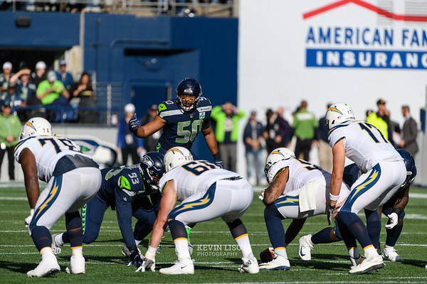K.J. Wright - Seattle Sehawks vs. Los Angeles Chargers - November 4, 2018