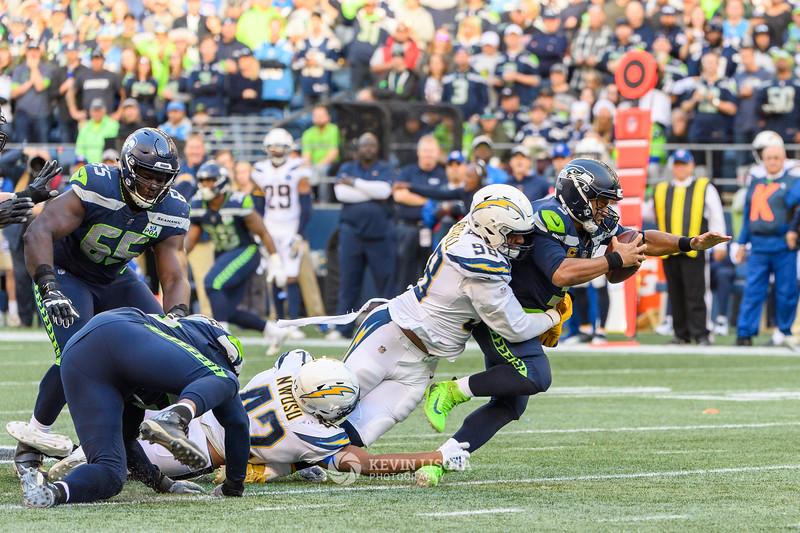 Russell Wilson - Seattle Sehawks vs. Los Angeles Chargers - November 4, 2018
