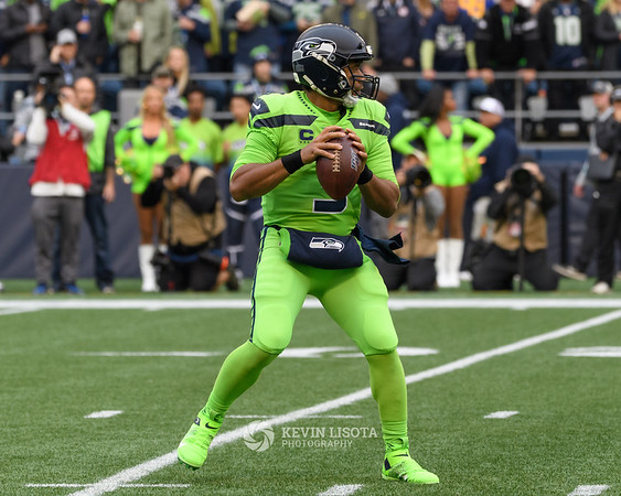 Russell Wilson - Seattle Seahawks vs Los Angeles Rams - Oct 4, 2019