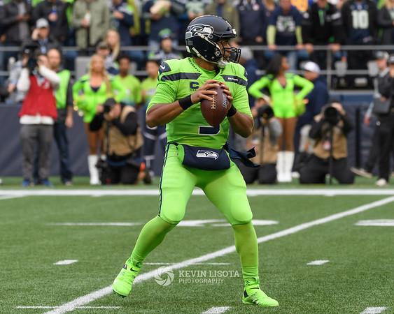 Russell Wilson - Seattle Seahawks vs Los Angeles Rams - Oct 4, 2019