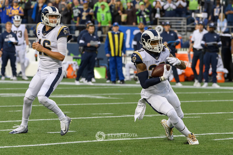 Todd Gurley & Jared Goff - Seattle Seahawks vs Los Angeles Rams - Oct 4, 2019