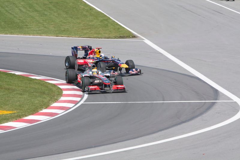 Bataille entre Hamilton et Vettel