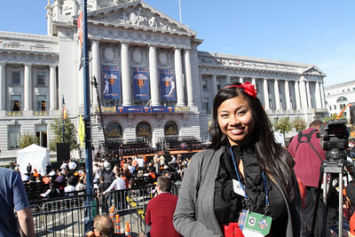 Claire Reclosado-Baclay, sporstwriter for the SF Examiner.
