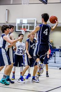 2015-2016 HTCS Basketball - 8th Grade Gold vs Holy Family @ SEAS