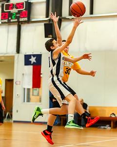 2015-2016 HTCS 8th Gr Basketball Gold vs St Joseph