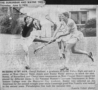 1976,USWLA,Swarthmore College,Bunny Watts, Cheryl Holland