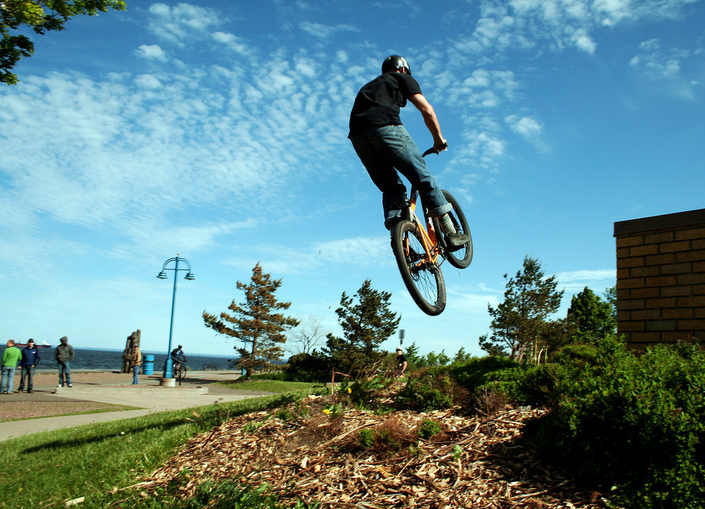 Getting some air in Canal Park