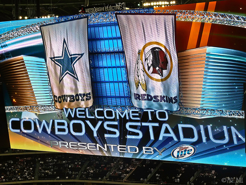 Jumbotron @ Cowboys Stadium Monday Night Football