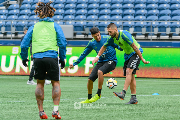 Tony Alfaro & Clint Dempsey - Sounders Media Day 2018