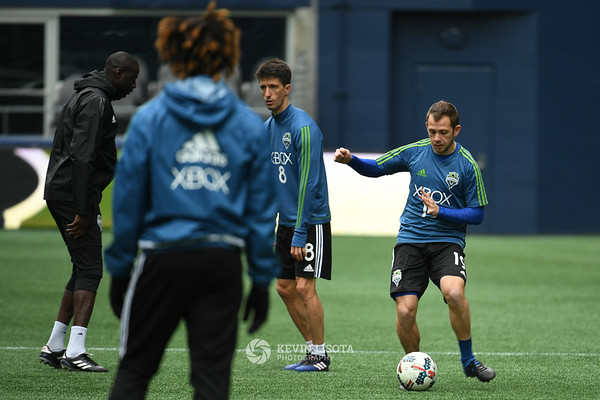 Sounders Training Session - Media Day - Harry Shipp