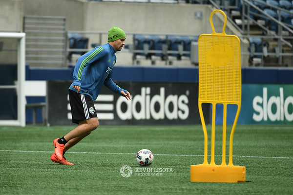 Sounders Training Session - Media Day - Chad Marshall
