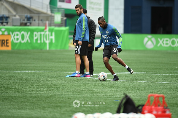 Sounders Training Session - Media Day - Joevin Jones