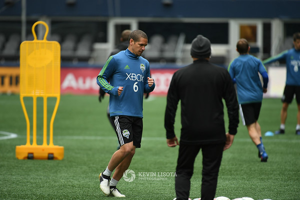 Sounders Training Session - Media Day- Ozzie Alonso