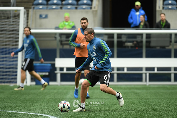 Sounders Training Session - Media Day - Ozzie Alonso