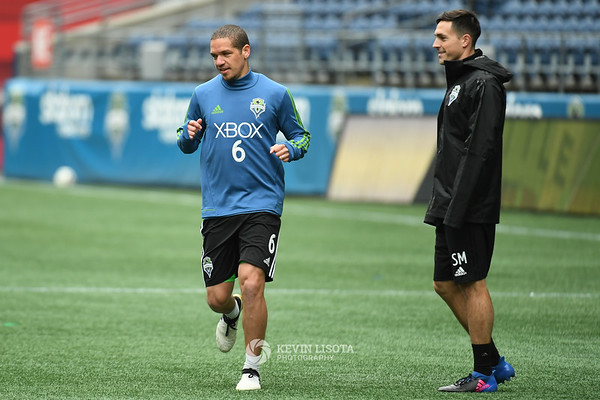 Sounders Training Session - Media Day - Ozzie Alsonso & Sean Muldoon