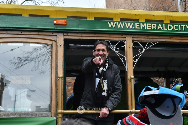 Sounders MLS Cup March and Rally - Adrian Hanauer