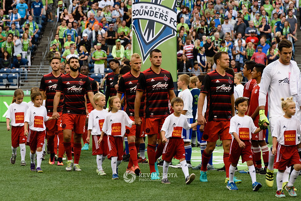 Seattle Sounders FC vs Portland Timbers - Aug 21, 2016