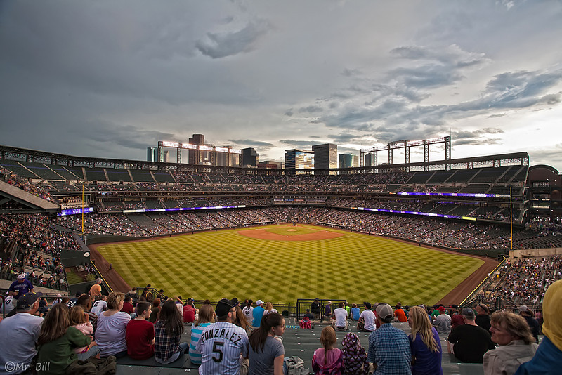 Coors Field home of the Colorado Rockies baseball club in  Denver, CO