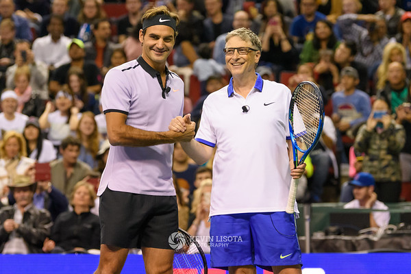 Bill Gates & Roger Federer - Match for Africa