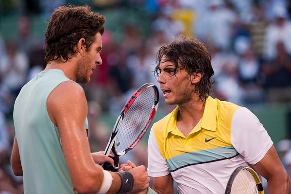 del Potro and Rafael Nadal