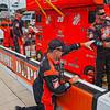 Crew member of Joey Logano before the NASCAR AAA Texas 500 @ Texas Motor Speedway