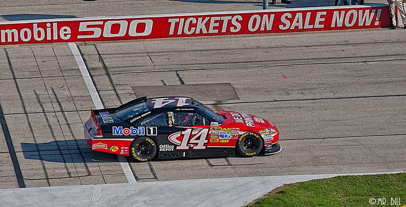 Tony Stewart entering pit lane during the NASCAR AAA Texas 500 @ Texas Motor Speedway