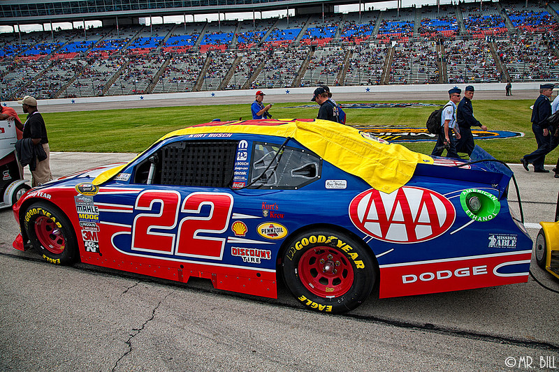 Kurt Busch car before NASCAR AAA Texas 500 @ Texas Motor Speedway