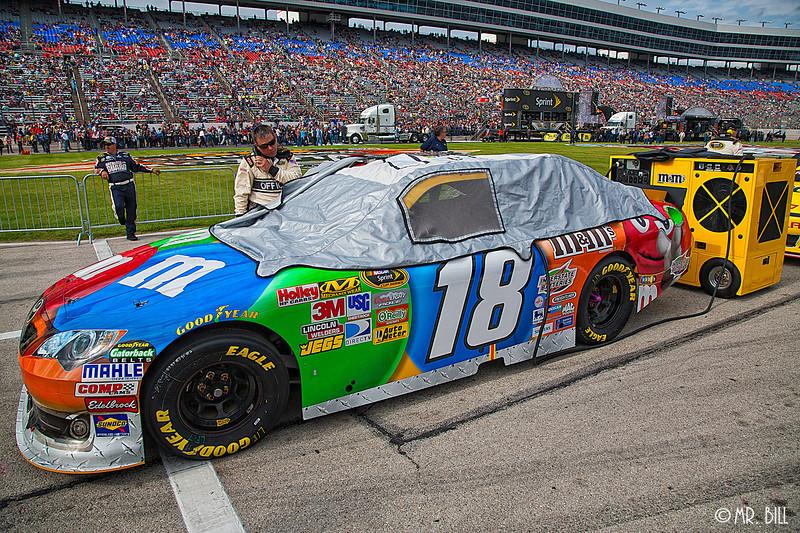 Kyle Busch (he did not race) car before NASCAR AAA Texas 500 @ Texas Motor Speedway