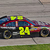 Jeff Gordon entering pit lane during NASCAR AAA Texas 500 @ Texas Motor Speedway