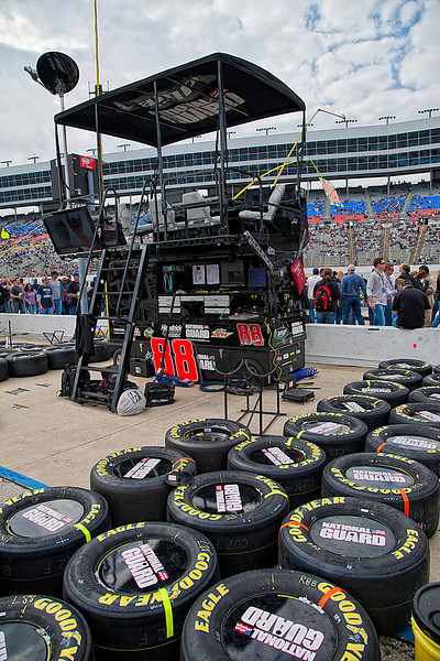 Dale Earnhardt Jr pit area before NASCAR AAA Texas 500 @ Texas Motor Speedway