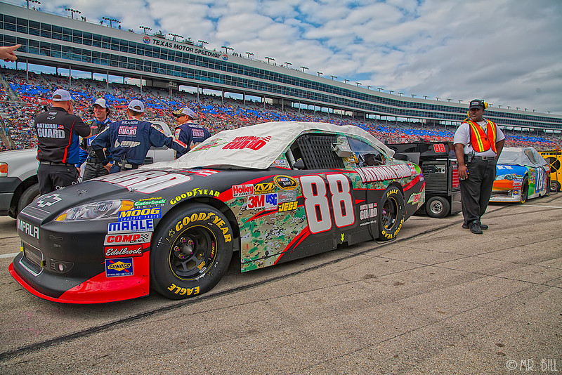 Dale Earnhardt Jr car in pit before the NASCAR AAA Texas 500 @ Texas Motor Speedway